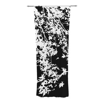 "Ingrid Beddoes ""White on Black"" Decorative Sheer Curtains"