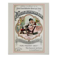 Vintage Barber Shop Advertisement