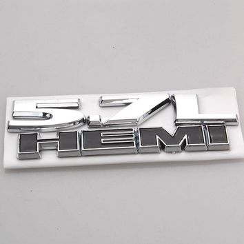 Auto Car Styling 5.7L HEMI Emblem Badge Decal Decors Sticker Fit For Dodge Ram Jeep Chrysler Charger Challenger Car Accessories