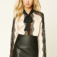 Satin Lace Shirt