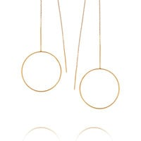 Maria Black - Monocle gold-plated earrings