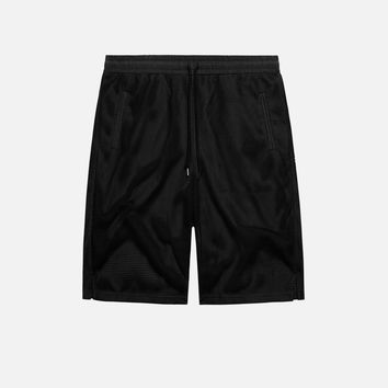 Mesh Overlay Shorts / Black