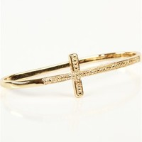 Pre-Order: Gold Side Cross Palm Bracelet
