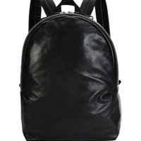 Alexander McQueen Mens Studded Leather Backpack, Black