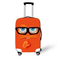 Cute 3D Cartoon Face Luggage Protective Covers Suitcase Cover For Travel 18 to 28 Inch Trolley Luggage Cover Dust Protection