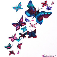 Butterfly, Art Print, Butterfly print, Girls art prints