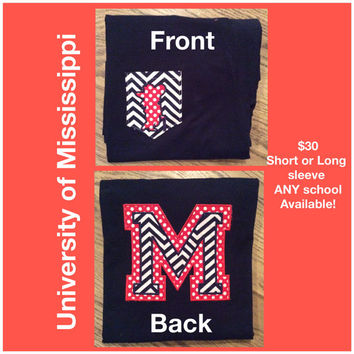 Ole Miss Pocket Tee - ANY School available