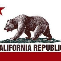 California Republic State Flag Bear Bumper Sticker Decal - 2 Pack