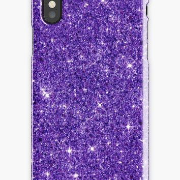 'Bright Shiny Beautiful Elegant Pink And Purple Diamond Girly Glitter Pattern ' iPhone Case by Quaintrelle