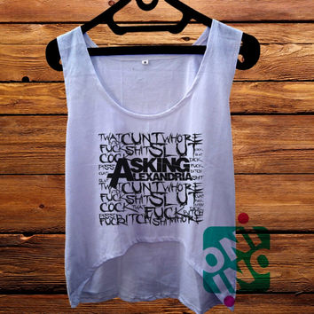 Asking Alexandria Quotes crop tank Women's Cropped Tank Top