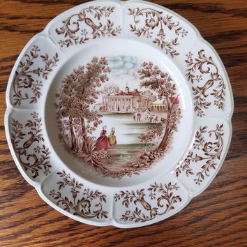 "RARE PATENT PENDING JOHNSON BROS. CHINA ""MOUNT VERNON"" 10"" DINNER PLATE"
