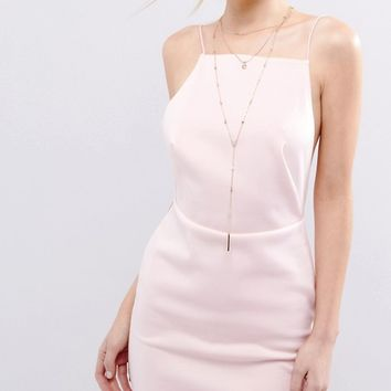 ALDO Delicate Multirow Long Pendant Necklace at asos.com