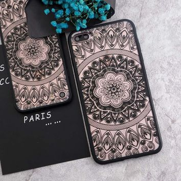 SoCouple For iphone 7 5s 5 SE 7Plus Phone Cases Sexy Lace Floral Paisley Flower Mandala Henna For iphone 6 6s 6/7/8 plus 8 Case