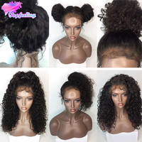 OPAL FERRIE - 180 Full Lace Wig With Baby Hair Curly 7A Malaysian Lace Front Human Hair Wig