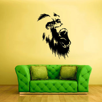 Wall Vinyl Sticker Decals Decor Art Bedroom Design Mural Gorilla Monkey Ape (z2408)