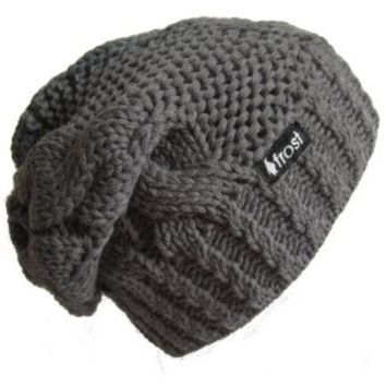 Amazon.com: Frost Hats Winter Hat for Women CHARCOAL Slouchy Beanie Hat Knitted Winter Hat Frost Hats (Charcoal): Clothing