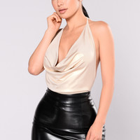 Counting Days Bodysuit - Gold
