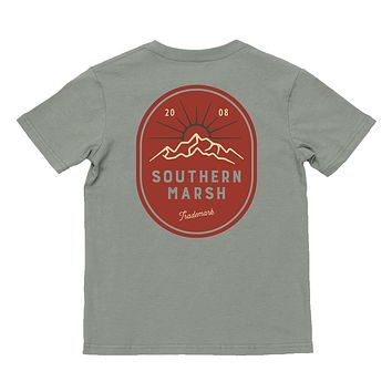 Youth Branding Mountain Rise Tee by Southern Marsh
