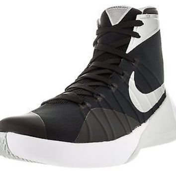 Men's Nike Hyperdunk 2015 Team Basketball Shoe Black/Anthracite/White/Silver ...