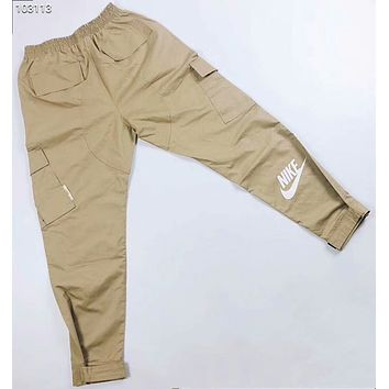 NIKE 2018 summer thin section breathable sports pants overalls F-AG-CLWM Khaki