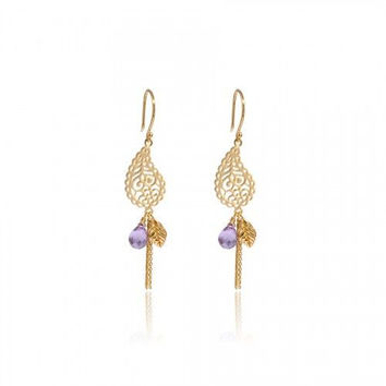 In Love with Life Earrings • Amethyst • Gold Vermeil