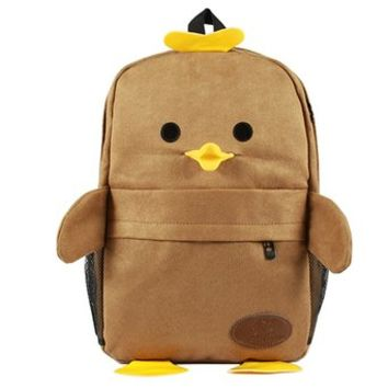 Cute Cartoon Smile Duck Backpack Schooling Bag