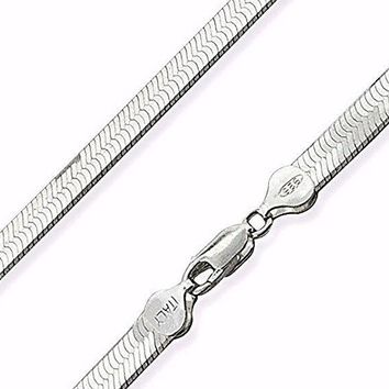 New Solid Anti-Tarnish Superflex Herringbone Bracelet 925 Sterling Silver-7mm 8""