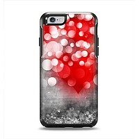 The Bright Unfocused White & Red Love Dots Apple iPhone 6 Otterbox Symmetry Case Skin Set