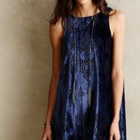 Cerulean Velvet Dress by Nomad by Morgan Carper Navy
