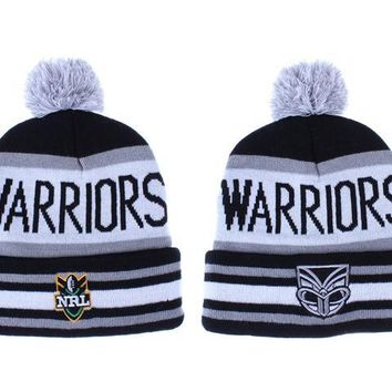 auguau New Zealand Warriors Beanies NRL Football Hat