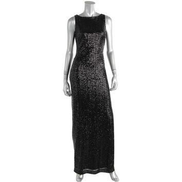 Lauren Ralph Lauren Womens Sequined Evening Dress