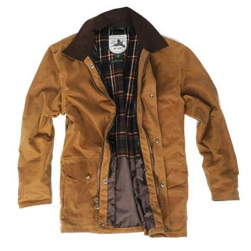 Over Under Clothing, Men's Waxed Briar Jacket, Brown