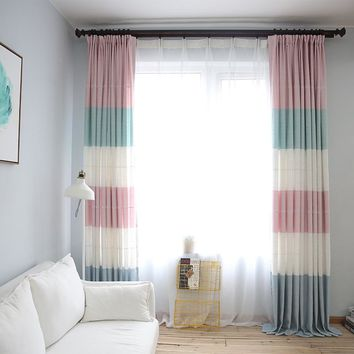 linen blackout window curtains for girl room and kids room hight quality curtain
