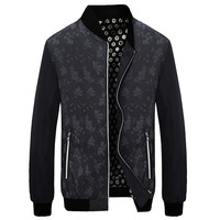 Floral Embossed Bomber Jackets - Assorted Colors