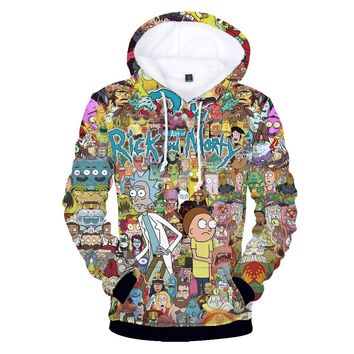Rick and morty 3D casual hoodie costume Rick and morty colorful hoodie fleece hoodie menswear  Q0042-WY02