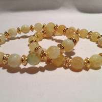 Yellow Agate with Gold Daisy   orianalamarca
