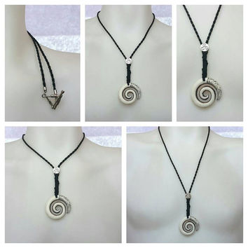 CELTIC NECKLACE,Braided Leather Necklace,Celtic Necklace,Viking,Leather Jewelry,Mens Jewelry,Spiral Pendant,Braided Leather Bracelets,Charm