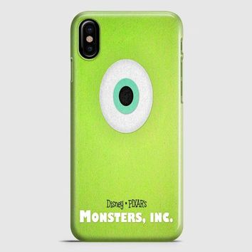 Monster Inc Green Mike iPhone X Case