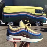 Fashion Nike Air Max 97 / 1 Sean Wotherspoon AJ4219-400  VF SW Hybrid Sport Running Shoes - Best Online Sale