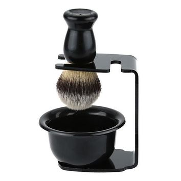 PEAPHY3 Shaving Arcylic Stand For Shaving Brush Holder Barber Tool Black Salon Shaving Tool Male Facial Cleaning Tool M02360