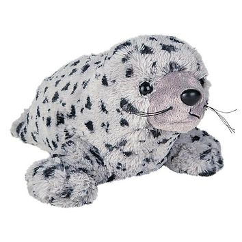 12 Inch Harbor Seal Stuffed Animal Plush Floppy Ocean Species Collection