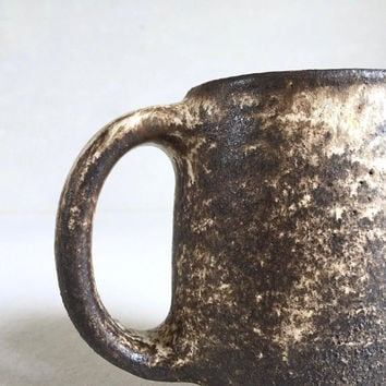 DIRTY BROWN MUG 16-18oz, ceramic, pottery, handmade, rustic, coffeemug, coffee, cup, handmademug, potterymug, brownmug, sturdy mug, big mug