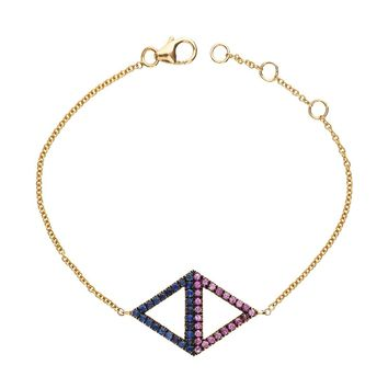 Shelly Zucker Jewelry Spectrum Necklace - Multicolor Pink Stones Necklace