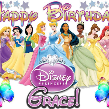 Personalized Custom Birthday T-shirt Disney Princess