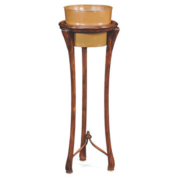 """Felice 45"""" Tall Plant Stand, Walnut, Plant Stands"""