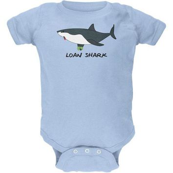LMFCY8 Loan Shark Great White Funny Pun Soft Baby Crewneck One Piece
