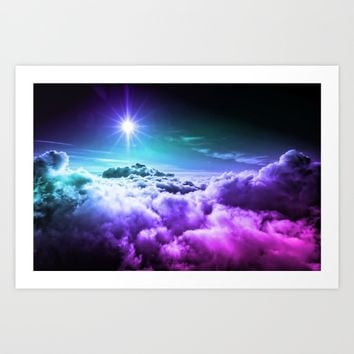Cool Tone Ombre Clouds Art Print by 2sweet4words Designs