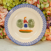 Beautiful French Luneville Fainence Dinner Plate