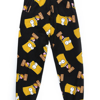 BART FACE SWEAT PANTS / BLACK