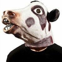 Morbid Enterprises Cow Head Mask, Black/White, One Size